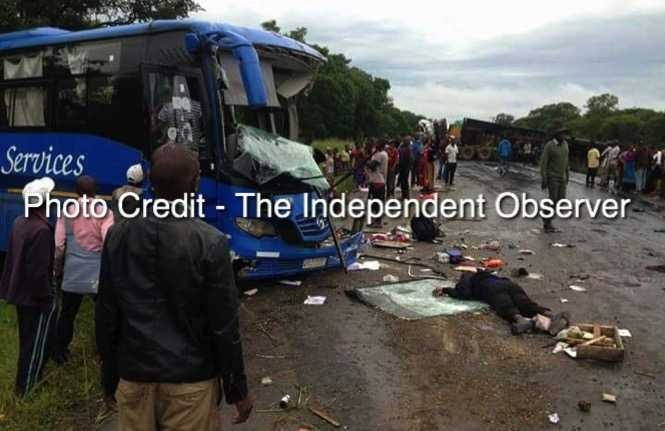 Ten people have died on the spot when a Copperbelt bound Mazhandu Family Bus Services collided with a truck on the Kabwe-Kapiri road - The Independent Observer
