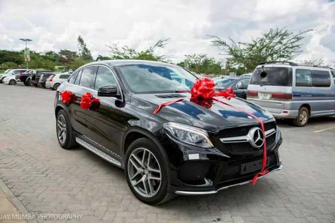 Stopilla Sunzu surprises wife with a wonderful gift, an SUV, Merecedes Benz GLE Coupe