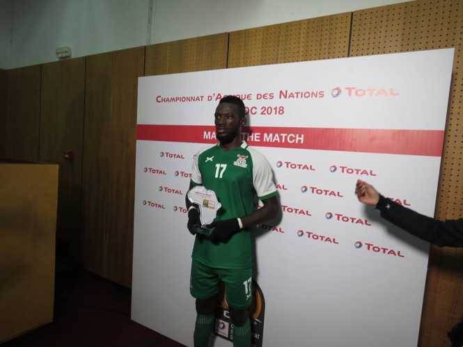 Augustine Mulenga won man of the match