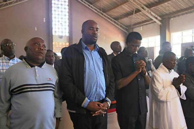 His Excellency the President of the Republic of Zambia attending Mass at St John Catholic Church in Chinsali district, Muchinga Province on Sunday, 21st January, 2018. Picture by Eddie Mwanaleza.