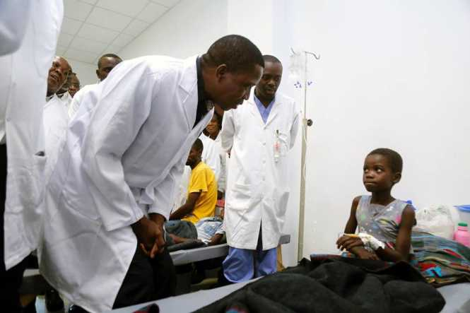 President Lungu's visit to the Heroes stadium, a Cholera centre