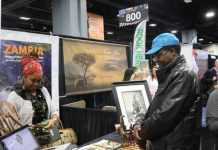 Zambian stand at the Washington D.C Travel and Adventure Show
