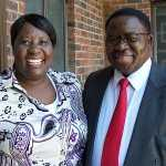 The  late Deputy Minister of Health Patrick Chikusu and his wife Edah
