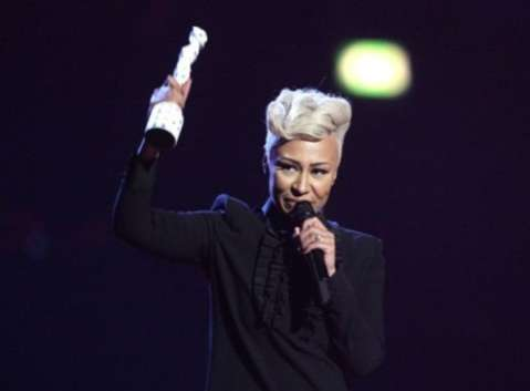 Emeli Sande collects the Best British Female award on stage during the 2013 Brit Awards at the O2 Arena, London.