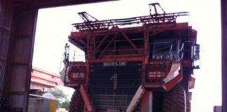 Lumwana mine truck workshop