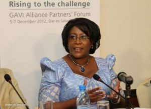 Christine Kaseba, First Lady of Zambia and a leading advocate for women's health, speaks at a conference in Dar es Salaam, Tanzania, on Dec. 6, 2012