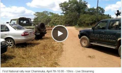 First National rally near Chaminuka, April 7th 10.00 - 15hrs - Live Streaming
