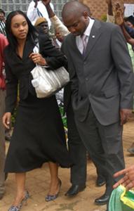 Chansa Kabwela(Left)