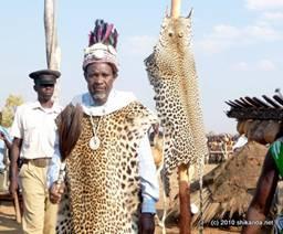 Chief Mutondo makes his 2011 Kazanga ceremonial entry