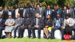 Guy Scott (c) Energy & Mines minister Yamfwa Mukanga(l) ,country manager IFC Saleem Karimjee, Tanzanian MP Mary Nagu and delegates of the Network of Reformers