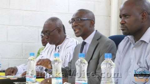 NAREP President Elias Chipimo(c) his Vice (l) Charles Mboshe and party chairman (r) Joseph Mushalisa LuakaVoice.com