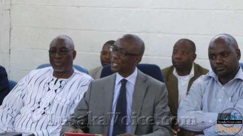 NAREP President Elias Chipimo(c) his Vice (l) Charles Mboshe and party chairman (r) Joseph Mushalisa LuakaVoice.com