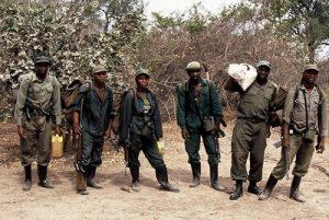 Anti-Poaching unit from ZAWA (Zambian Wildlife Authority)