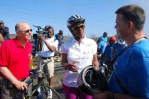 Storella (left) and Zim Amb.Wharton with Hon Sylvia Masebo, Zambia minister of tourism