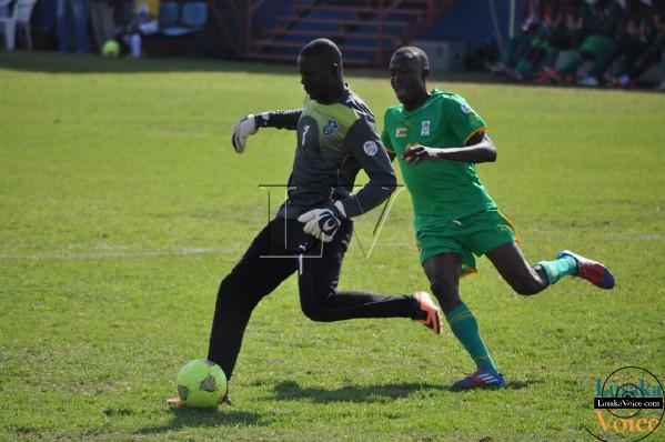 COSAFA Jul 13  - Malawi ( Blue)  v. Zimbabwe (RED) at Nkoloma Stadium - Lusakavoice.com