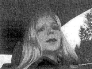 Bradley Manning,  dressed as a woman named Chelsea in 2010