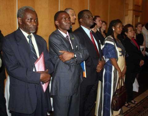 Kaela Mulenga, UNZA and MacDonald Chipenzi, FODEP. Photo by FODEP