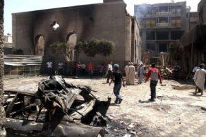 Ransacked Evangelical Churh of Malawi in Egypt.jpg