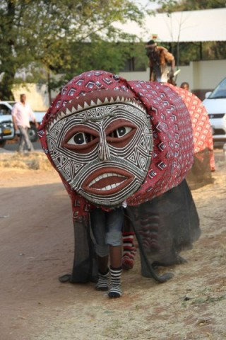 Some of the faces that were part of the Victoria Falls street carnival2