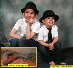 Young Brothers, 5 & 7, Strangled To Death In Sleep By 100-Pound Python