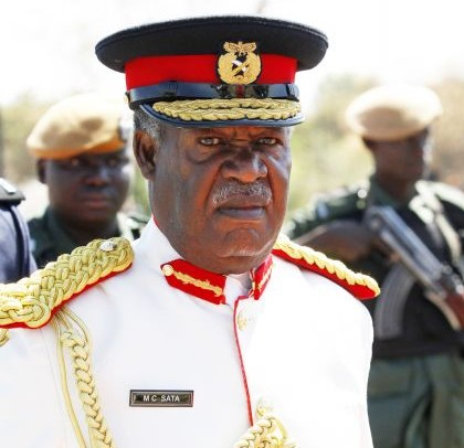 President Micheal Sata in Army Uniform