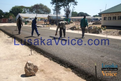 Mongu Township roads under constriction to bituminous standard.  -  Lusakavoice.com -1