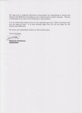 Open Letter to President Sata-Plight of Nurses - Page 2