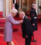 Stuart Hall received his honour from the Queen in the 2012 New Year's Honours list