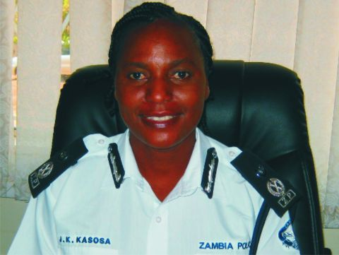 Lusaka police commissioner Joyce Kasosa - Picture by Joseph Mwenda