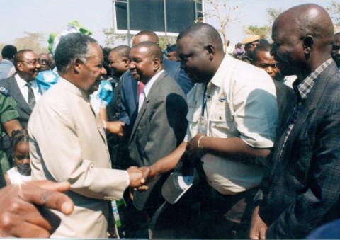 Kennedy Kamba greeting the President of the great Republic of Zambia. — at Kenneth Kaunda International