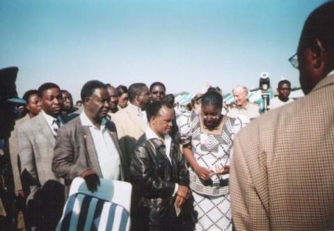 Sata & Chiluba, June 2001 in Lusaka