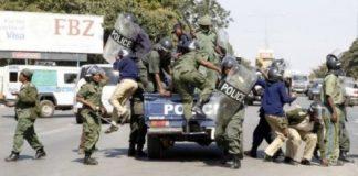 Zambia Police in Riot gear