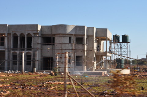House under construction in Lusaka