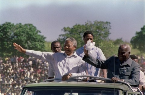 Mandela and Kenneth D. Kaunda, the former president of Zambia - Lusakavoice.com