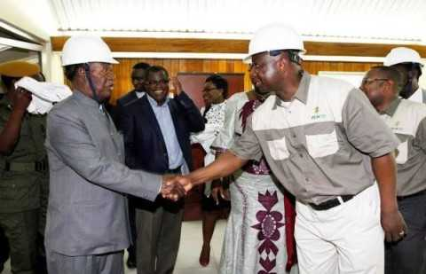 President Sata during the commissioning of the Kariba North bank Extension Power Project in Southern Province