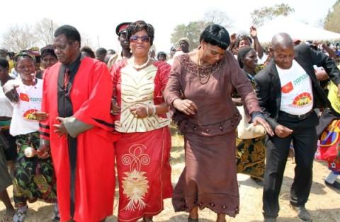 Senior Chief Mboroma during Ichibwelamushi Cultural ceremony at Chalata main arena in Mkushi on September 14,2013