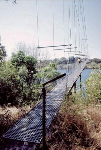 Chinyingi suspension footbridge, Zambia