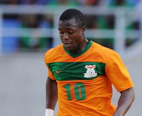 Top Zambian striker Bornwell Mwape