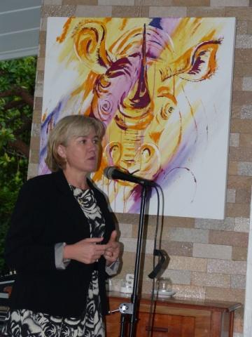 Charlotte Scott, ZAWA board member and wife of the Zambian Vice-President, appreciates the North Luangwa initiative