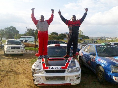 GEOFFREY Chulu and his younger brother Lastone on Sunday won the first round of the national rally championship