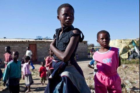 Kids in the Misisi Compound, Lusaka, Zambia