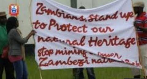 Lower Zambezi National Park mining protests