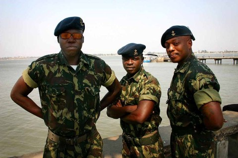 Members of the Mozambique armed forces