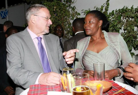 Nawakwi with His Honour the Vice President of the Republic of Zambia Dr. Guy Scott