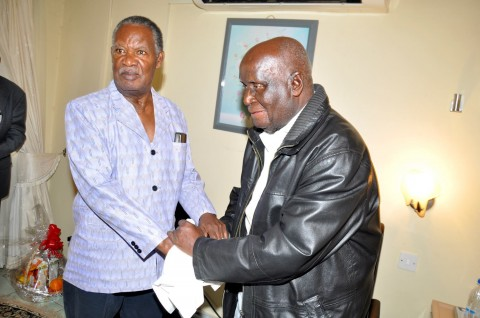 Sata with KK at Lusaka Trust Hospital visiting Dr Kenneth David Kaunda. 1
