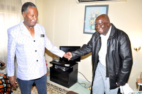 Sata  at Lusaka Trust Hospital visiting Dr Kenneth David Kaunda.