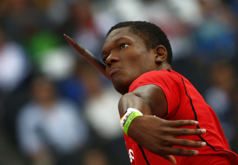 Trinidad and Tobago's Keshorn Walcott competes in the men's javelin throw final at the London 2012 Olympic Games