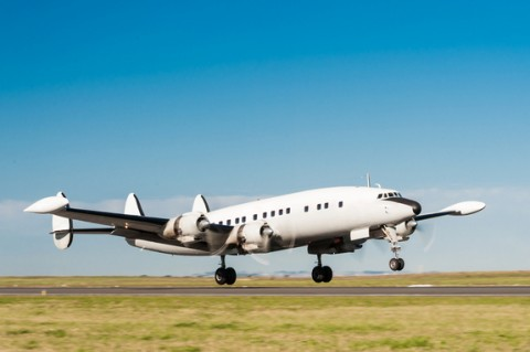 A Lockheed L-1049, the type of plane that disappeared over the Pacific Ocean in 1962 with 107 passengers and crew.