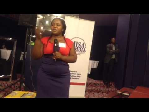 MISA Zambia Acting Chairperson Helen Mwale