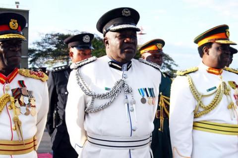 former Zambia Army Commander Lieutenant General Wisdom Lopa, former ZAF Commander Lt. General Andrew Sakala, and former Zambia National Service